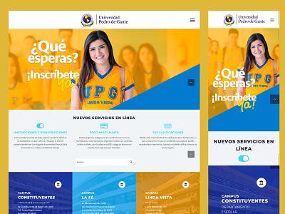 UPG School Portal monterrey website design school