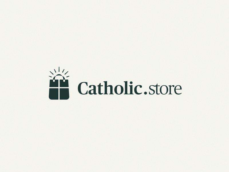 Catholic.store Branding design branding identity logo christian logo christianity christian
