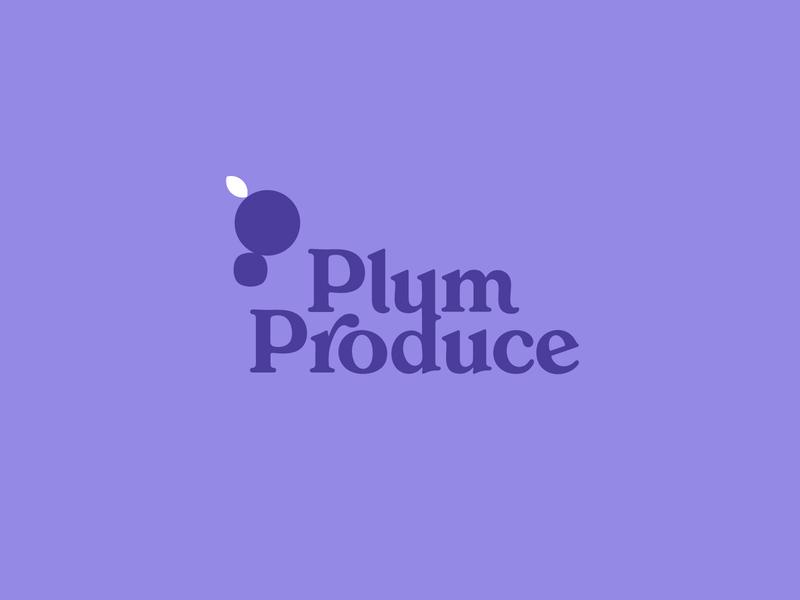 PlumProduce | Brand produce fruit plum font ui ux typography vector brand identity branding logo