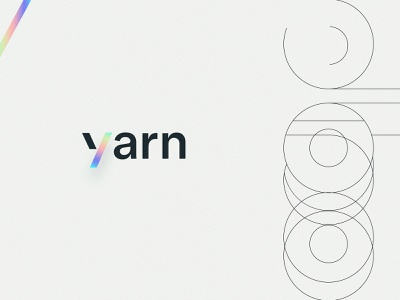 Yarn | Brand colorful typography gradient story rainbow minimal icon vector brand identity branding logo