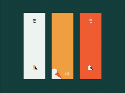 rit | Brand Collateral publishing publisher books bookmark shapes colorful icon vector brand identity branding logo