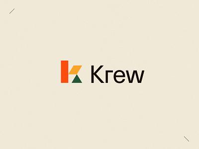 Krew | Brand freelance contractor job search job board job blocks icon colorful typography ui brand identity branding logo