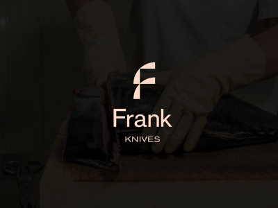 Frank Knives | Branding knife cut food cooking knives people brand identity branding logo