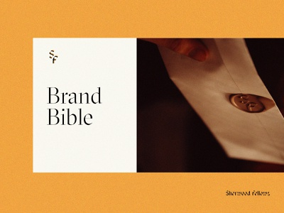 Sherwood Fellows | Brand wax stamp typography brand identity branding logo