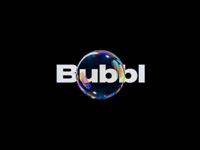 Bubbl colorful typography brand identity branding logo