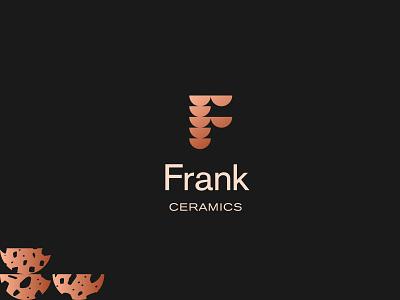 Frank Ceramics   Brand pottery ceramic plates bowling ui brand identity branding logo