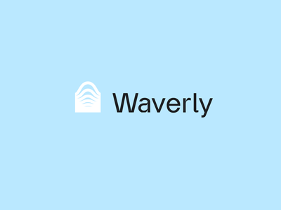 Waverly | Brand 2 blue wave typography people ui brand identity branding logo