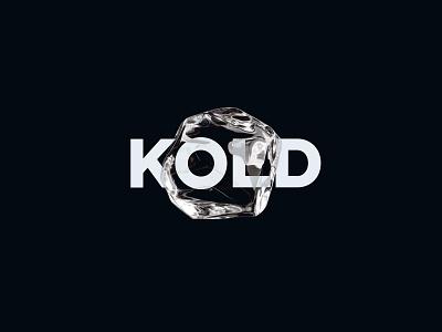 KOLD | Brand freeze kold ice cube ice cold brand identity branding logo