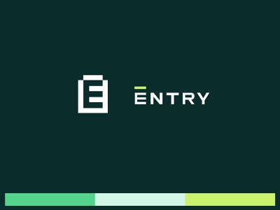 Entry   Brand blocks lockup e logo locking locksmith lock colorful illustration typography brand identity branding logo