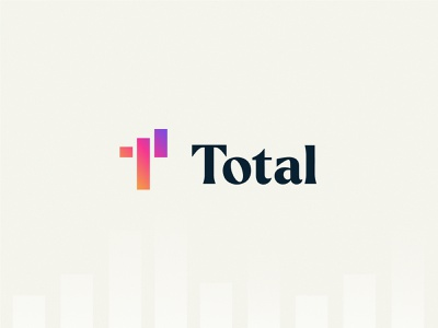 Total | Branding & Web finance app graph chat gradient colorful accounting payroll finance brand identity branding logo