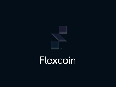 Flexcoin | Brand 2 f logo money coinbase coin cryptocurrency crypto typography people brand identity branding logo