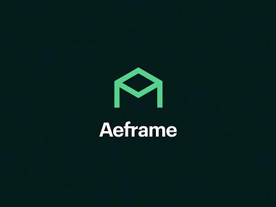 Aeframe   Brand frame builder construction logo construction remodel typography people brand identity branding logo