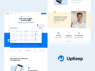 UpKeep.io | Web Explorations 2 maintenance app hard hat worker contruction typography people brand identity branding logo