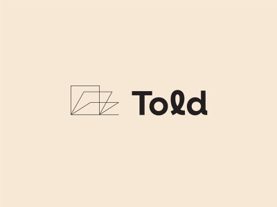 Told | Brand reading author publishing told learning story book people brand identity branding logo