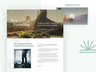 New Founding | Web Ideation business alliance founding new landing web typography people brand identity branding logo