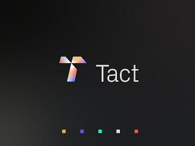 Tact | Branding tactical pin t logo typography brand identity branding logo