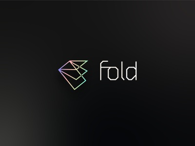 Fold   Brand app banking holographic gradient startup logo software finance brand identity branding logo