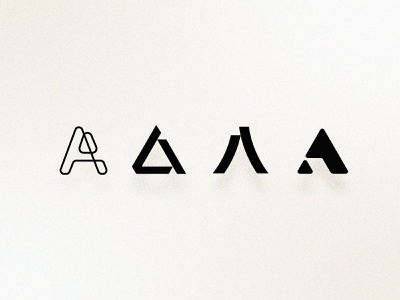 A Concepts   Branding startup geometric modern black and white simple a logo typography brand identity branding logo