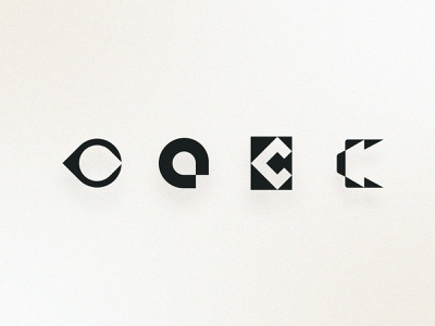 C Concepts | Brand vintage black and white geometric modern simple typography brand identity branding logo