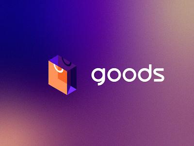 Goods | eCommerce Brand store shopify software saas ecommerce shopping bag typography brand identity branding logo