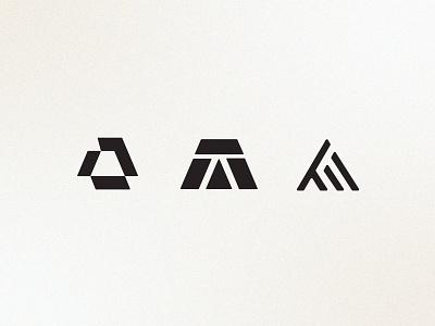 'A' Logos | Brand black and white vintage geometric modern simple a logo ui brand identity branding logo