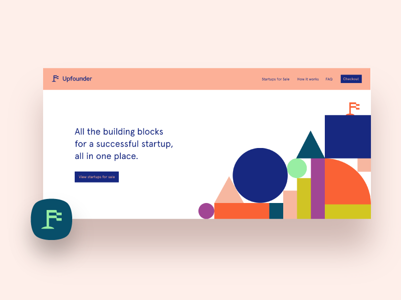 UpProduct | Building Blocks web ui zany colorful logo identity brand startup founder