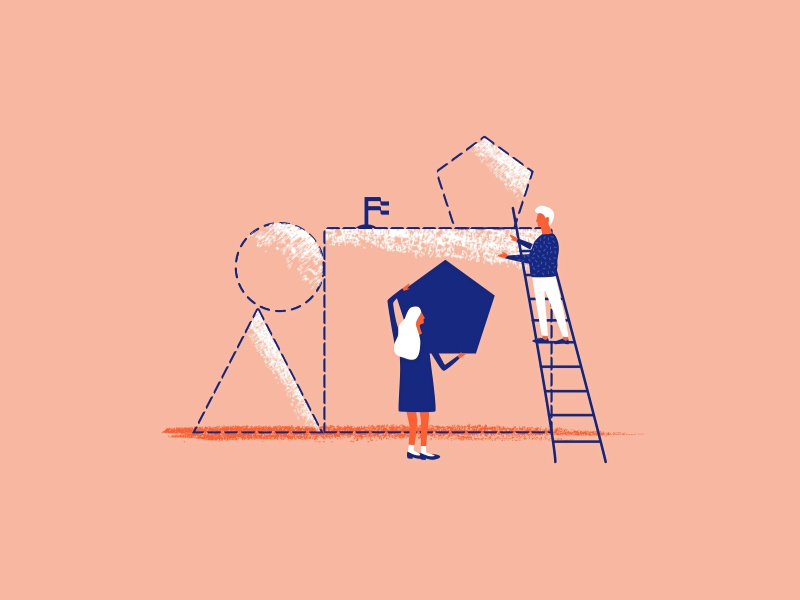 Upfounder   More Illustration Styles shapes people branding logo startups web illustration upfounder