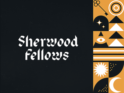 Sherwood Fellows | Brand Ideation robin hood secretive mystical enamel blackletter identity logo agency branding