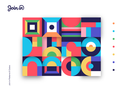 Join In | Patterns & Colors join blocks abstract vibrant bright colors patterns