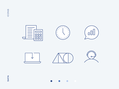 Bookkeeping & Accounting | Icons tech support money accounting bookkeeping blues minimal icons