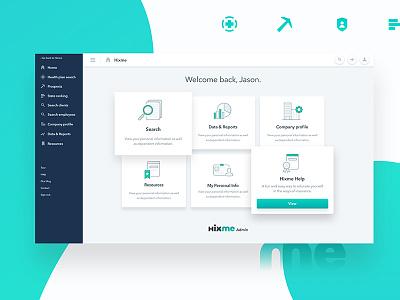 Hixme | Web Admin 2 back-end ux ui web app administrator admin