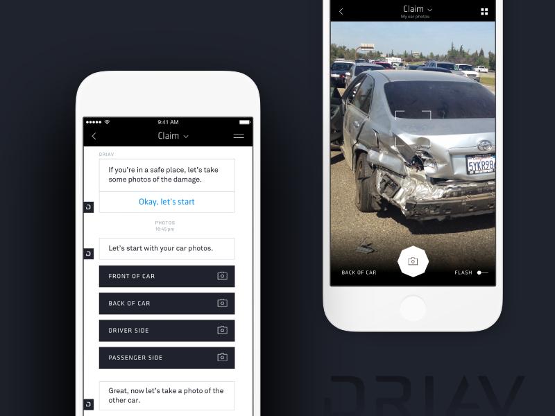 DRIAV | Chat Bot – Photo Feature chatbot chat photo ios mobile app drive autonomous automobile