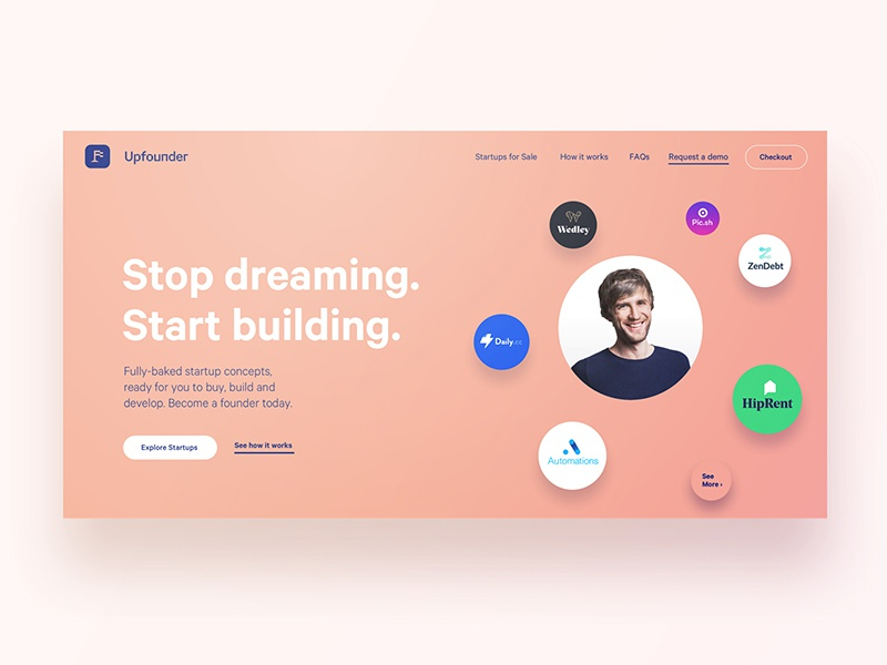Upfounder | Header Image abstract logo brand ui web