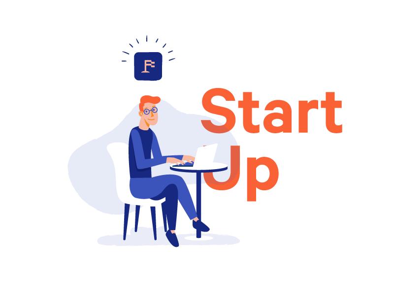 Upfounder | Start Up startup mobile ui illustration person