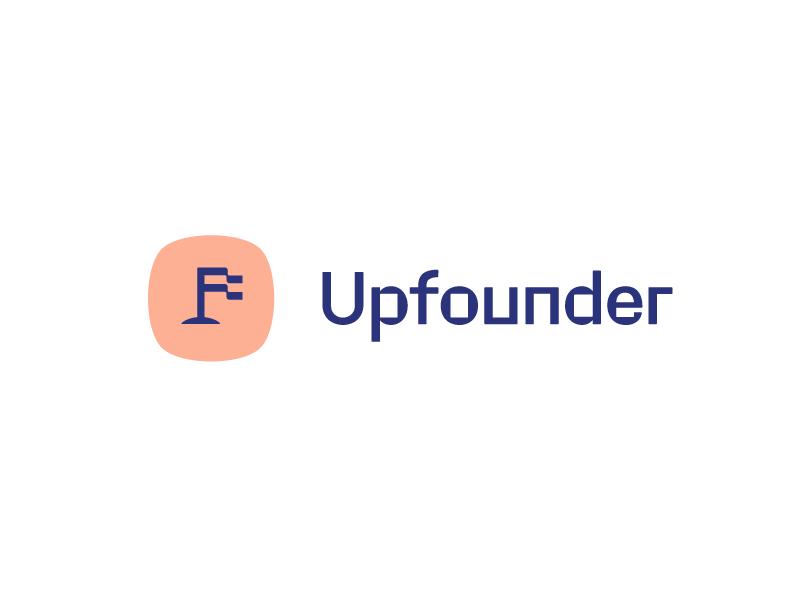 Upfounder | Final Brand grid logotype lettering brand mobile ui logo flag
