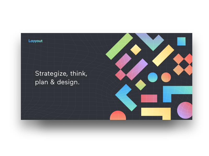 Layyout | Web Ideation shapes web brand logo