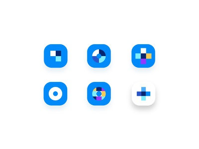 HelloOtto | App Icon Variations simple warranty insurance car automobile colorful circles app icons app icon ui