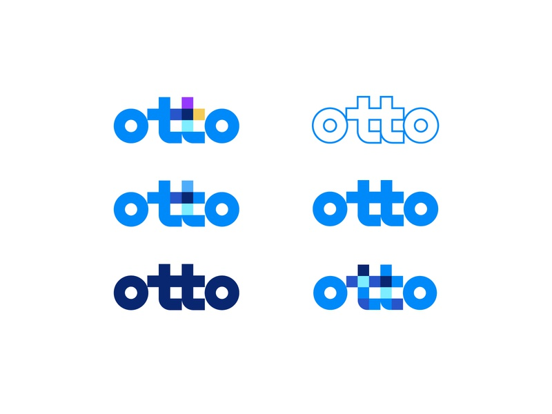 HelloOtto | Dynamic Branding logotype dynamic branding and identity colorful warranty automobile car logo branding