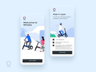 Wheels | Login Illustrations