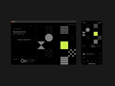 SoundID Listen Desktop app minimal simple music pattern black mobile app player darkmode ui soundwave sound music app dark ui