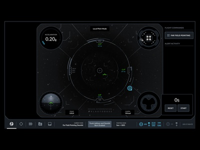 SpaceX's Crew Dragon Interface futuristic future dark theme dark mode interface design interface sci fi sci-fi spaceship space spacex nasa