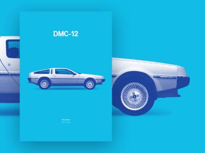 DeLorean - DMC-12 [poster]