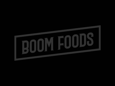 Boom Foods packaging custom type identity design