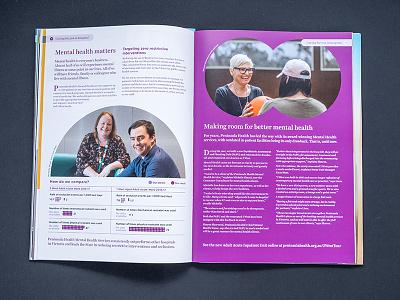 Quality Care layout editorial design publication design