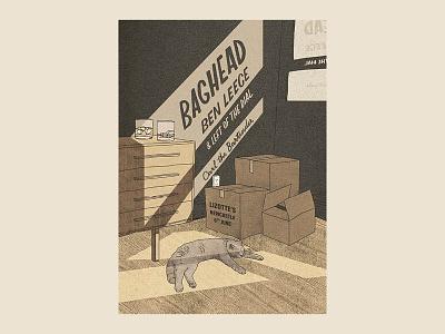 Gig Poster for Ben Leece illustration gig poster