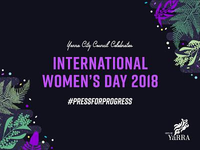 International Women S Day event graphics illustration