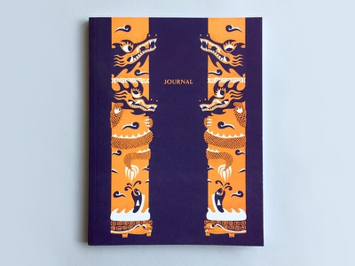 Dragon Columns Journal publication vietnam notebook dragons drawing illustration