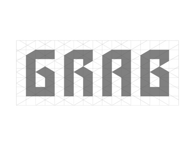 Grab typography design construction logo brand identity design