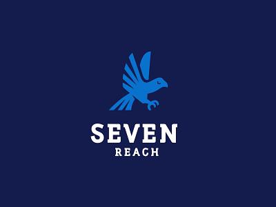 Seven Reach - Logo Design brand identity design brand bird digital logo