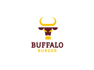 Buffalo Burger - logo design brand identity brand geometric logodesign illustration typography design branding logo brand identity design
